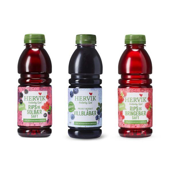 Gaveeske - 3 flasker saft